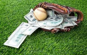 baseball mitt with money