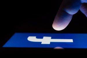 facebook on dark screen