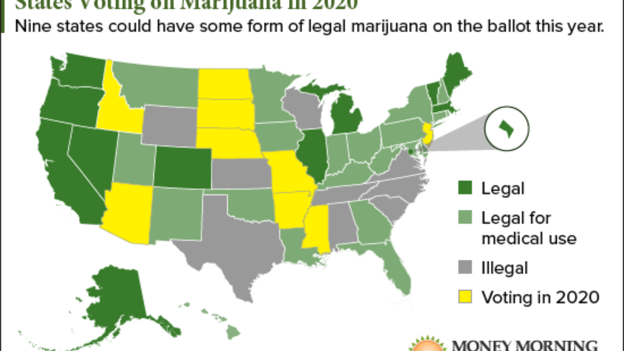 Where Is Marijuana Legal In The United States A Map Of U S
