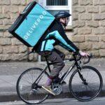 deliveroo bike delivery man