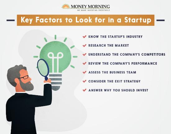 Key factors to look for in a startup to invest in graphic
