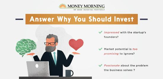 """Key factors to look for in a startup to invest in; #7 """"Answer Why You Should Invest"""" graphic"""